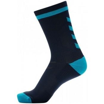 Acessórios Homem Meias de desporto Hummel Chaussettes  Indoor noir/bleu ciel