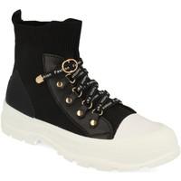 Sapatos Mulher Sapatilhas de cano-alto Buonarotti 1CD-1076 Negro