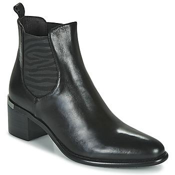 Sapatos Mulher Botins Adige DIVA V1 VEAU GARNET NOIR Preto
