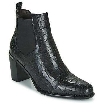 Sapatos Mulher Botins Adige FANNY V5 CROCO NOIR Preto