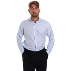 Textil Homem Camisas mangas comprida Les Copains 000.058 P3196SL Azul
