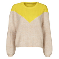 Textil Mulher camisolas Only ONLSOOKIE Bege / Amarelo
