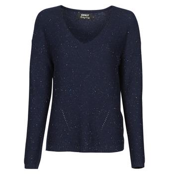 Textil Mulher camisolas Only ONLJOLIE Marinho