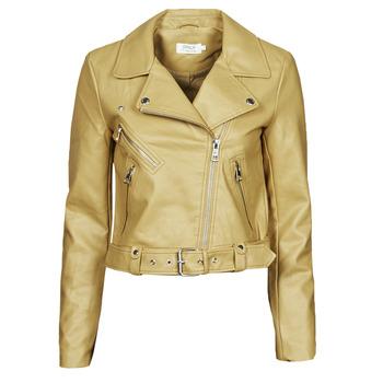Textil Mulher Casacos de couro/imitação couro Only ONLVALERIE Amarelo