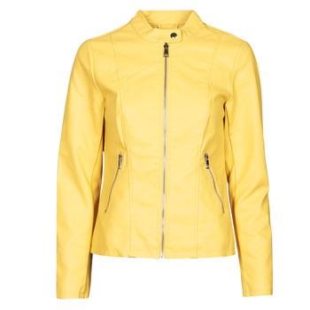 Textil Mulher Casacos de couro/imitação couro Only ONLMELISA Amarelo