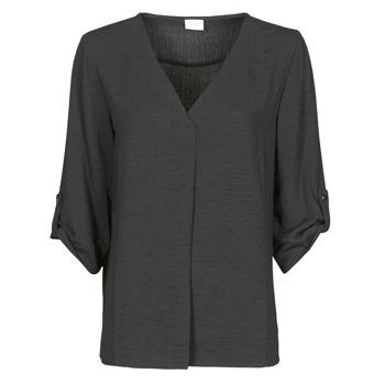 Textil Mulher Tops / Blusas JDY JDYDIVYA 3/4 TOP WVN NOOS Preto