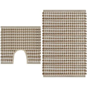 Casa Tapetes de banho VidaXL Conjunto de tapetes de casa de banho Bege