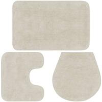 Casa Tapetes de banho VidaXL Conjunto de tapetes de casa de banho Branco