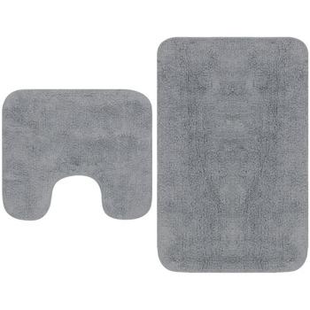 Casa Tapetes de banho VidaXL Conjunto de tapetes de casa de banho Cinzeto