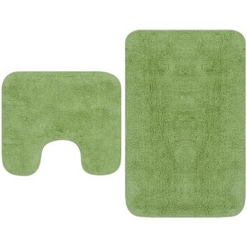 Casa Tapetes de banho VidaXL Conjunto de tapetes de casa de banho Verde