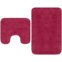 Casa Tapetes de banho VidaXL Conjunto de tapetes de casa de banho Cor-de-rosa