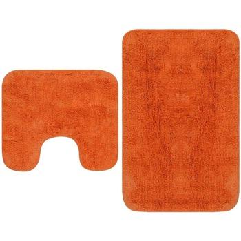Casa Tapetes de banho VidaXL Conjunto de tapetes de casa de banho Laranja