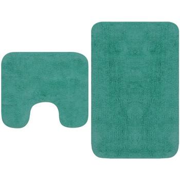 Casa Tapetes de banho VidaXL Conjunto de tapetes de casa de banho Turquesa