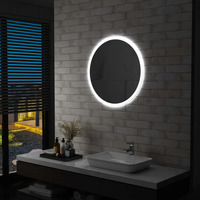 Casa Espelhos VidaXL Espelho LED 70 cm Prateado