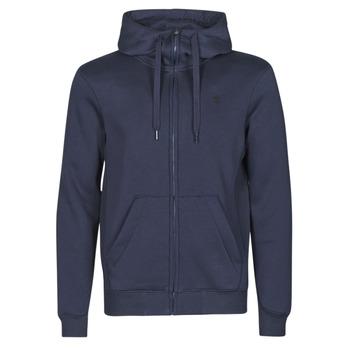 Textil Homem Sweats G-Star Raw PREMIUM BASIC HOODED ZIP SWEATER Marinho