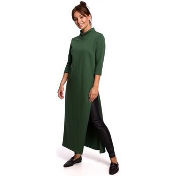Textil Mulher Túnicas Be B163 Túnica com fenda alta - lawngreen
