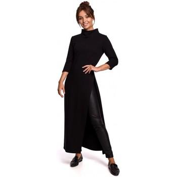 Textil Mulher Túnicas Be B163 Túnica com fenda alta - preta