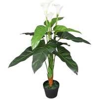 Casa Plantas e Flores Artificiais  VidaXL Planta artificial Branco
