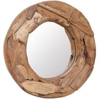 Casa Espelhos VidaXL Espelho 60 cm Marrom
