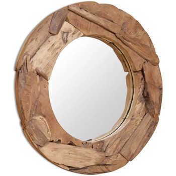 Casa Espelhos VidaXL Espelho 80 cm Marrom