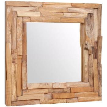 Casa Espelhos VidaXL Espelho 60 x 60 cm Marrom