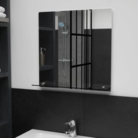 Casa Espelhos VidaXL Espelho de parede 50 x 50 cm Prateado
