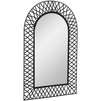 Casa Espelhos VidaXL Espelho de jardim 50 x 80 cm Preto