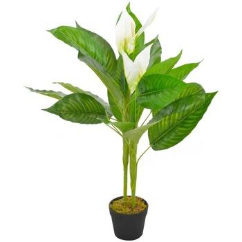 Casa Plantas e Flores Artificiais  VidaXL Planta artificial 90 cm Branco