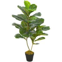Casa Plantas e Flores Artificiais  VidaXL Planta artificial 90 cm Verde