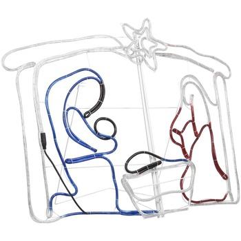 Casa Decorações festivas VidaXL Decoração de Natal 116 x 41 x 87 cm Multicolor