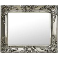 Casa Espelhos VidaXL Espelho 50 x 40 cm Prateado