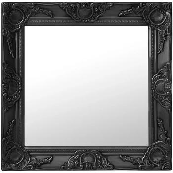 Casa Espelhos VidaXL Espelho 50 x 50 cm Preto