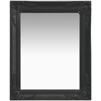 Casa Espelhos VidaXL Espelho 50 x 60 cm Preto