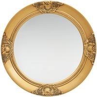 Casa Espelhos VidaXL Espelho Φ 50 cm Ouro