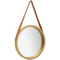 Casa Espelhos VidaXL Espelho Φ 40 cm Ouro