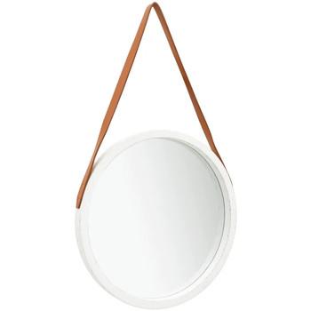 Casa Espelhos VidaXL Espelho Φ 50 cm Branco