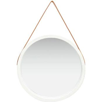 Casa Espelhos VidaXL Espelho Φ 60 cm Branco