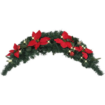 Casa Decorações festivas VidaXL Grinalda de Natal Verde