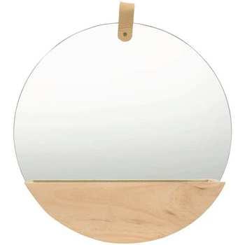 Casa Espelhos VidaXL Espelho de parede Φ 35 cm Marrom