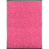 Casa Tapetes VidaXL Tapete de porta 90 x 120 cm Cor-de-rosa