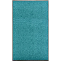 Casa Tapetes VidaXL Tapete de porta 90 x 150 cm Azul