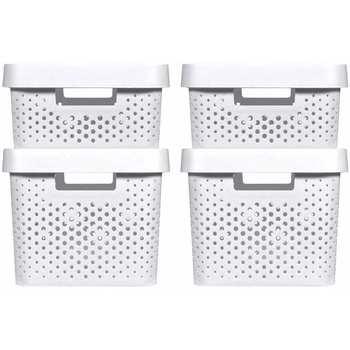 Casa Cestos e Caixas decorativas  Curver Caixa de arrumação Branco