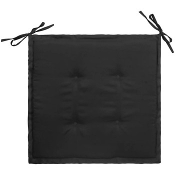 Casa Almofada de cadeira VidaXL Almofadão de cadeira 50 x 50 x 4 cm Preto