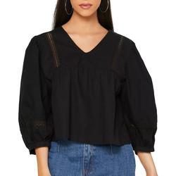 Textil Mulher camisas Jacqueline De Yong  Preto