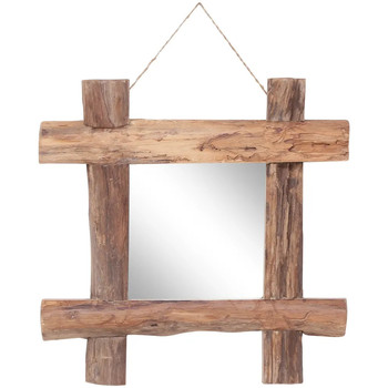 Casa Espelhos VidaXL Espelho 50 x 5 x 50 cm Marrom