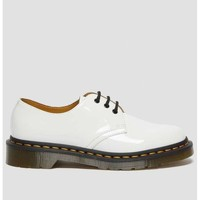 Sapatos Mulher Botins Dr Martens 1461 cuir verni Branco
