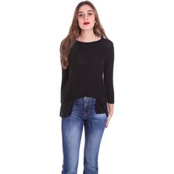 Textil Mulher T-shirt mangas compridas Dixie T340M028 Preto