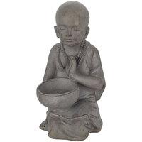 Casa Estatuetas Signes Grimalt Little Buddha Pocillo Gris