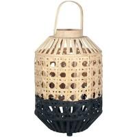 Casa Lanternas Signes Grimalt Lanterna De Bambu Natural Negro