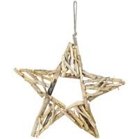 Casa Decorações festivas Signes Grimalt Estrela Com Madeira Dorado
